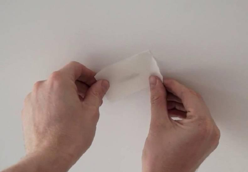Ремонт натяжного потолка при проколе и порезе - описание, видео