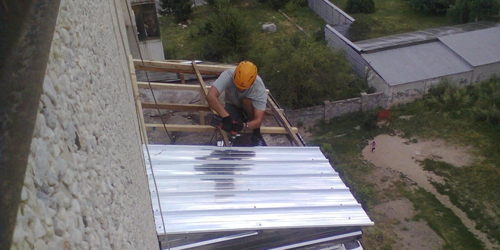 Балкон на крыше дома