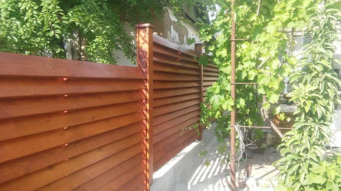Забор жалюзи — фото, видео, виды, как сделать своими руками