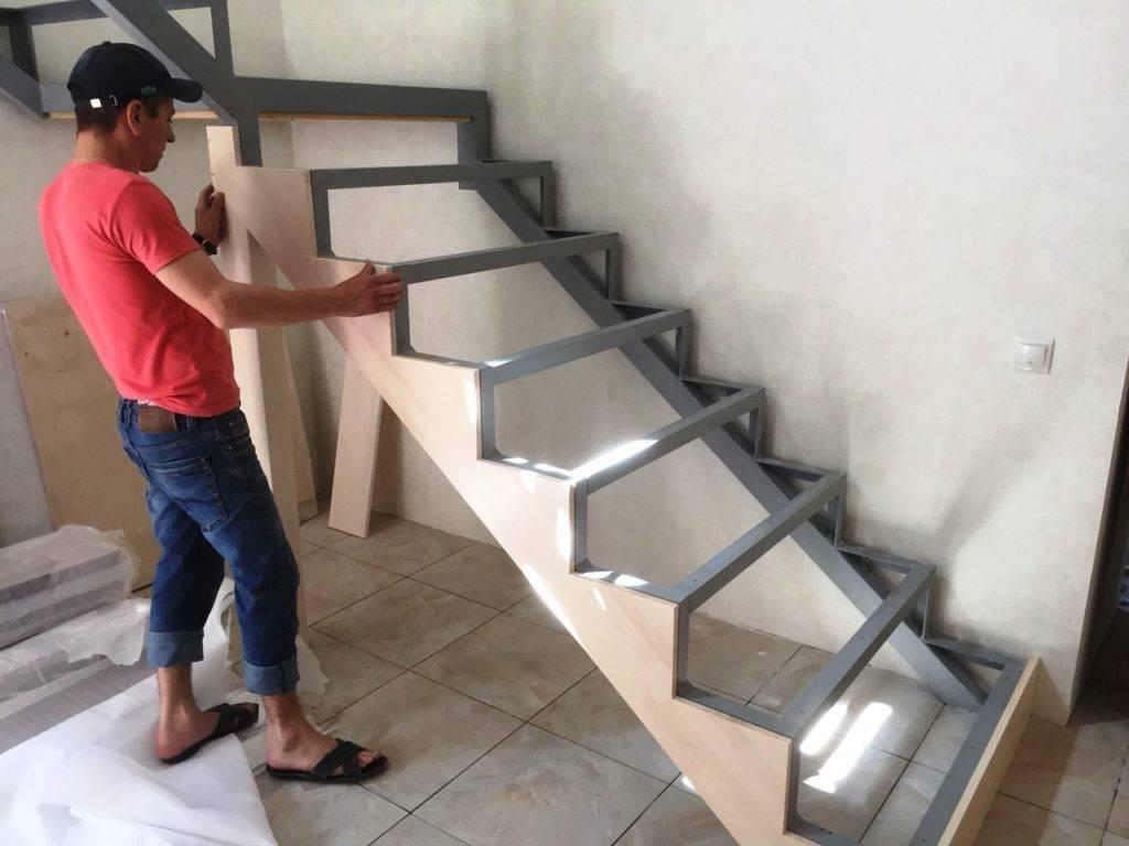 Отделка металлической лестницы деревом: обшиваем своими руками