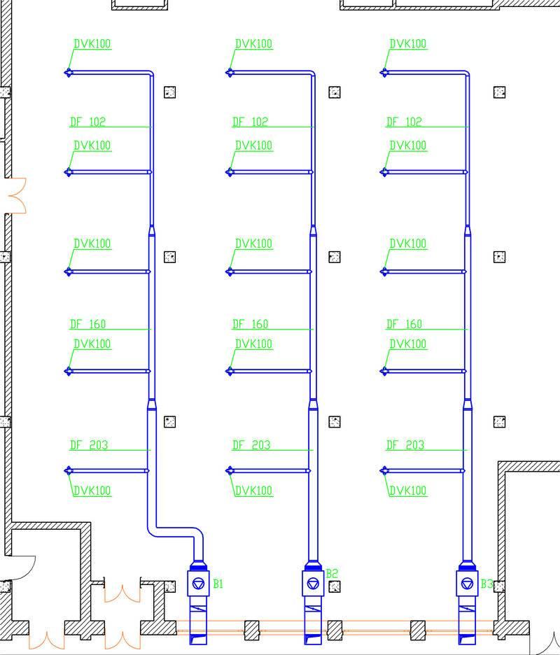 Системы вентилирования торговых центров и небольших магазинов