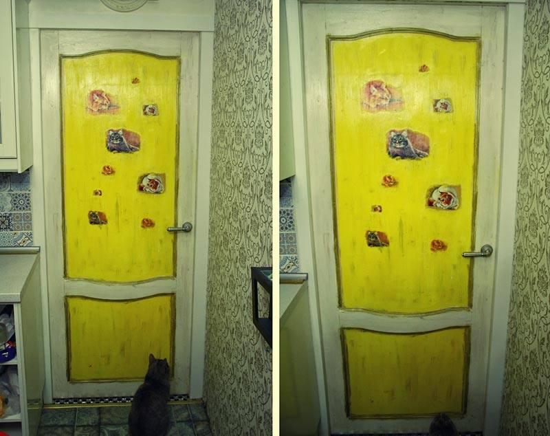 Как обновить дверь своими руками: описание методов реставрации