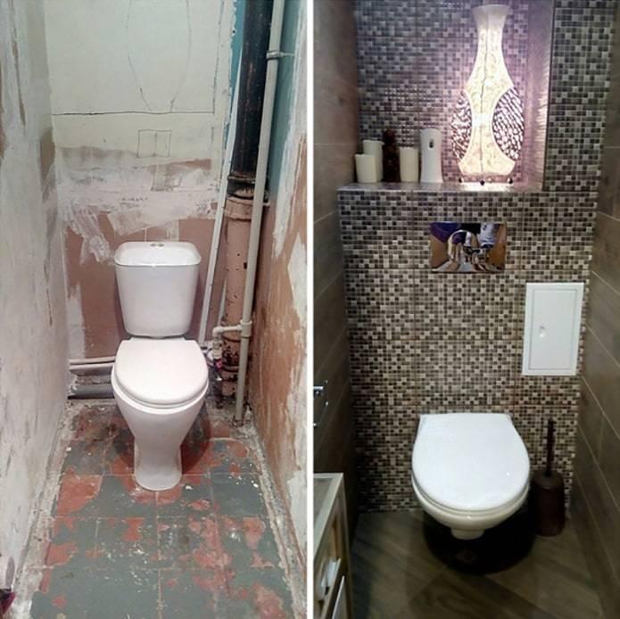 Как сделать недорогой ремонт туалета