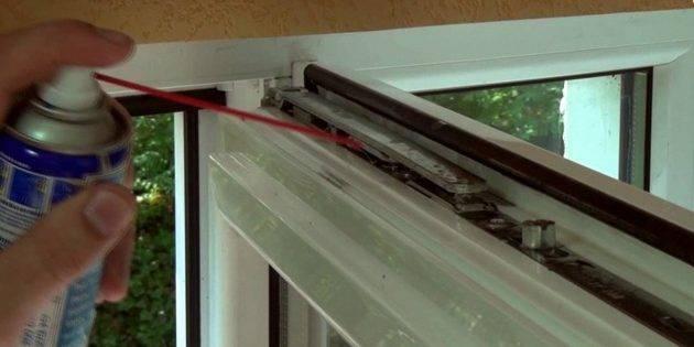 Как смазать пластиковые окна самостоятельно: механизм, фурнитура, уплотнители
