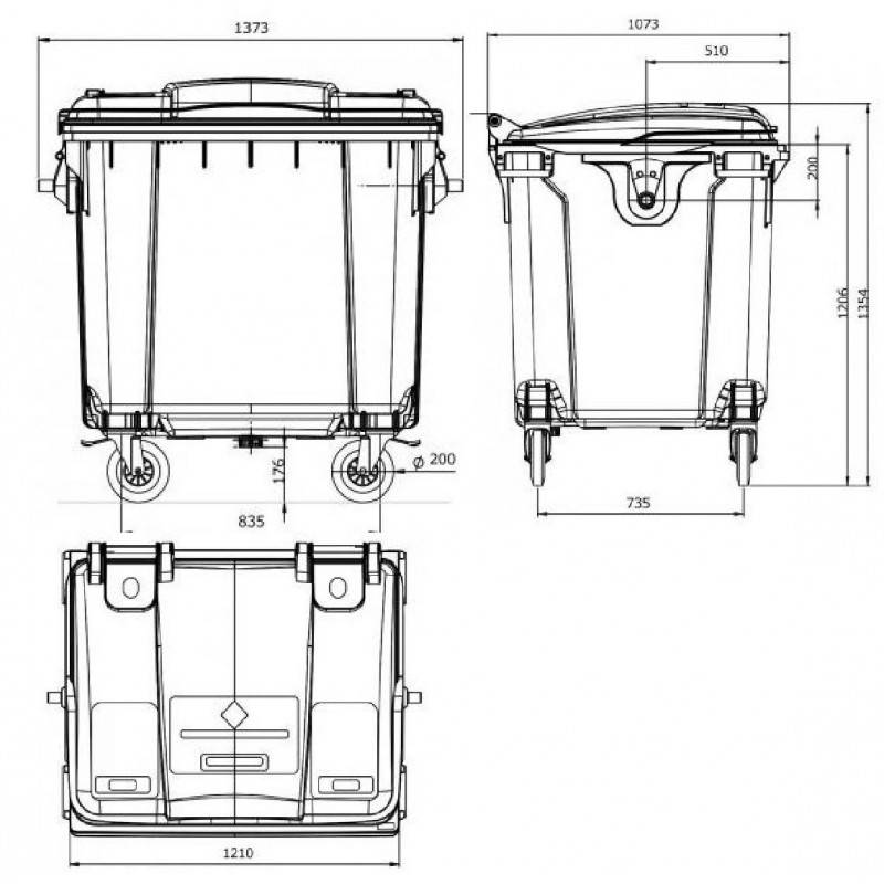 Контейнеры для мусора 8 м3 (26 фото): размеры мусорных контейнеров 8 куб. м, вес бункеров-контейнеров. сколько тонн мусора в них входит?