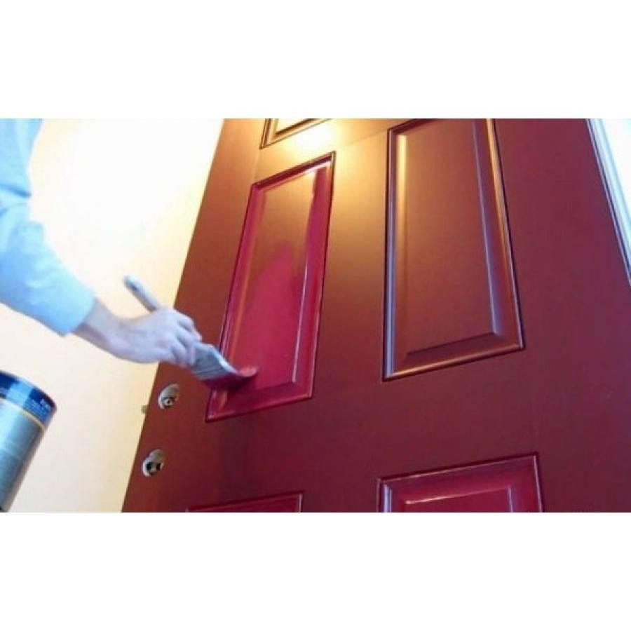 Как покрасить шпонированную дверь, филенчатую, металлическую, грунтованную, «канадку» и другие. все варианты покраски дверей из разных материалов