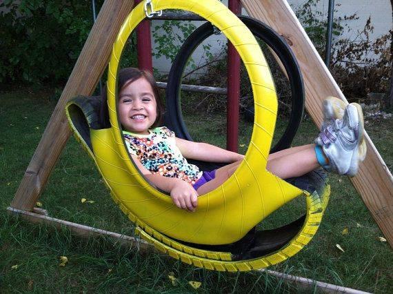 Качели из покрышки (32 фото): как пошагово сделать детские качели на цепях из шин и колес своими руками?