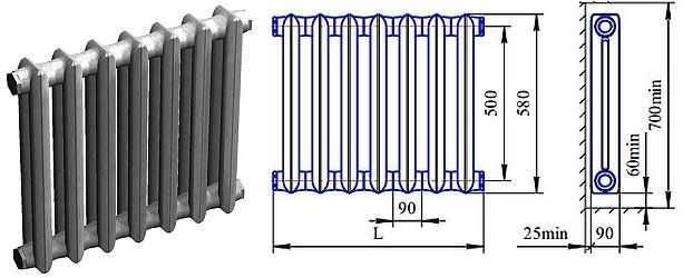 Старый добрый чугунный радиатор мс — сколько секций необходимо в комнате?