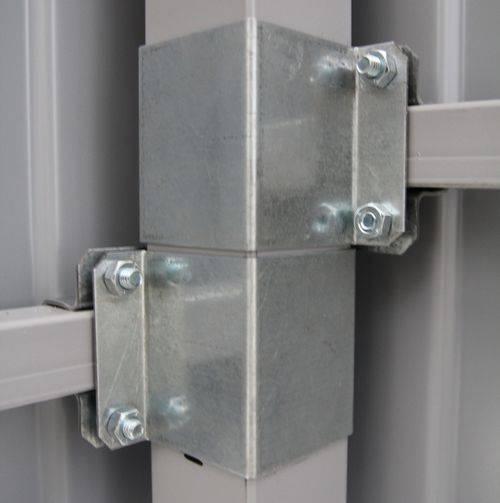 Забор из профлиста с металлическими столбами как сделать самому
