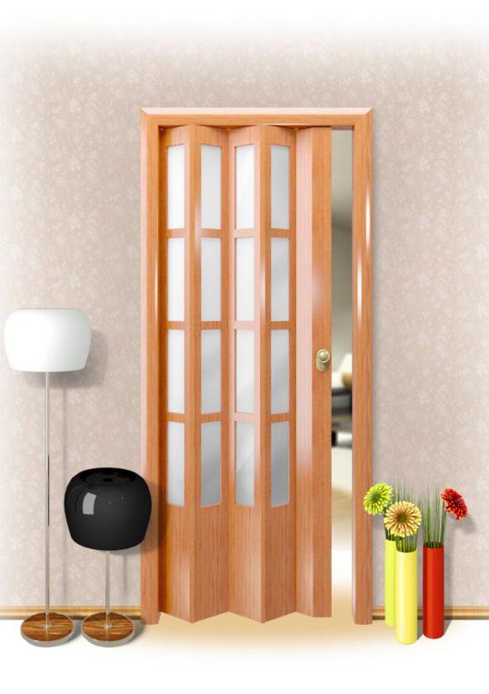 Межкомнатная дверь гармошка своими руками