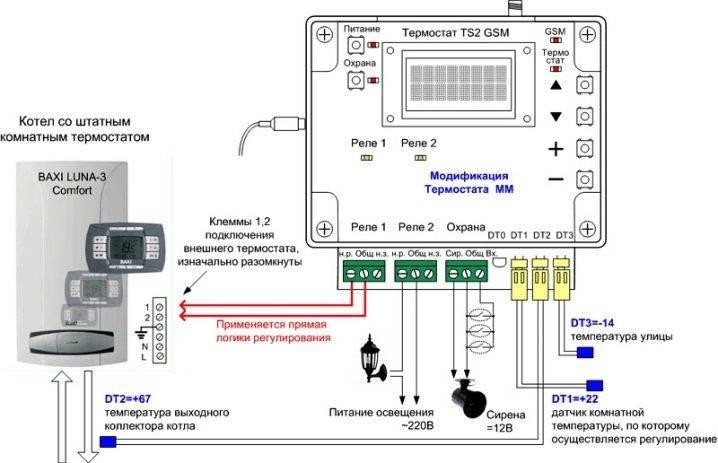 Схема подключения термостата к электрокотлу - ogorod.guru