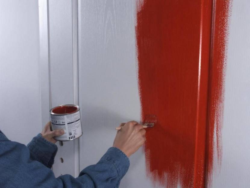 Как покрасить двери акриловой краской  технология работ – первый дверной