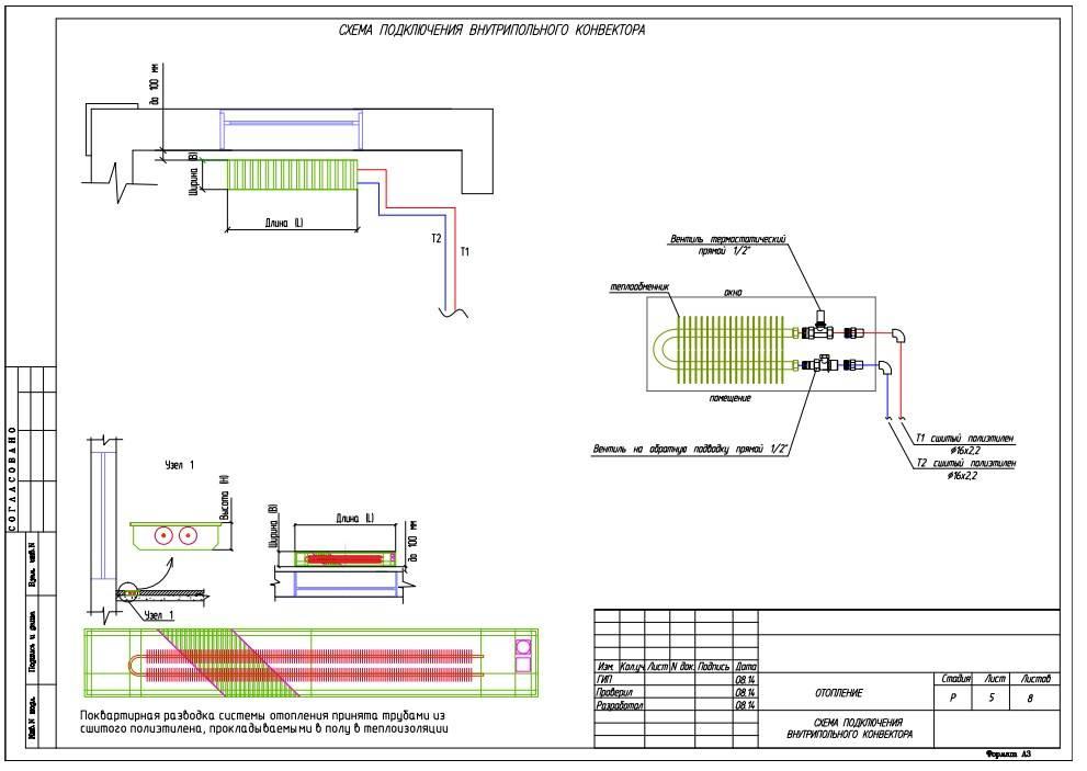 Комбинированная система отопления: радиаторы и теплый пол, схема и инструкция по подключению
