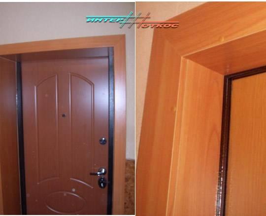 Откосы из мдф для входной двери: особенности монтажа- способы приклеивания +видео
