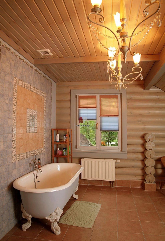 Отделка ванной комнаты в деревянном доме самостоятельно