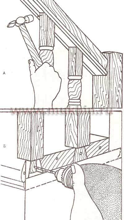 Как крепить балясины к полу своими руками: порядок действий