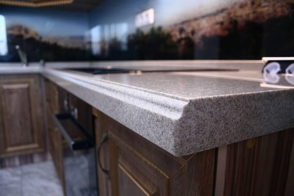 Столешница из искусственного камня для кухни - своими руками и классификация