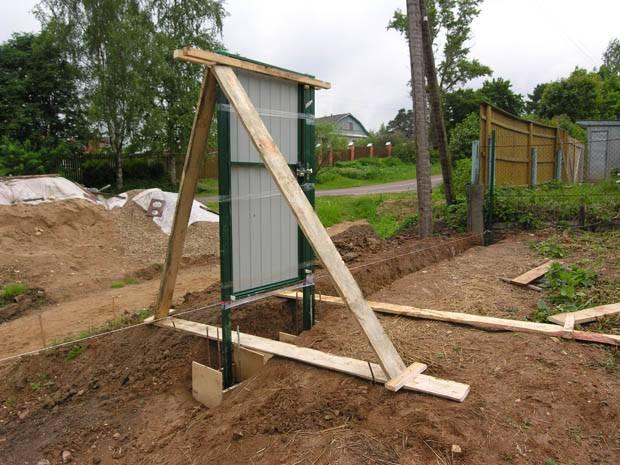 Как подготовить крепкий фундамент под распашные ворота?