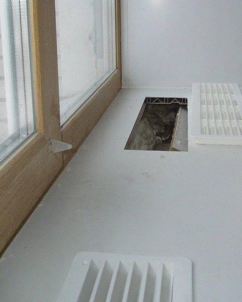 Вентиляционные решетки для подоконников под батарею (для столешницы, над радиатором, конвекционная)