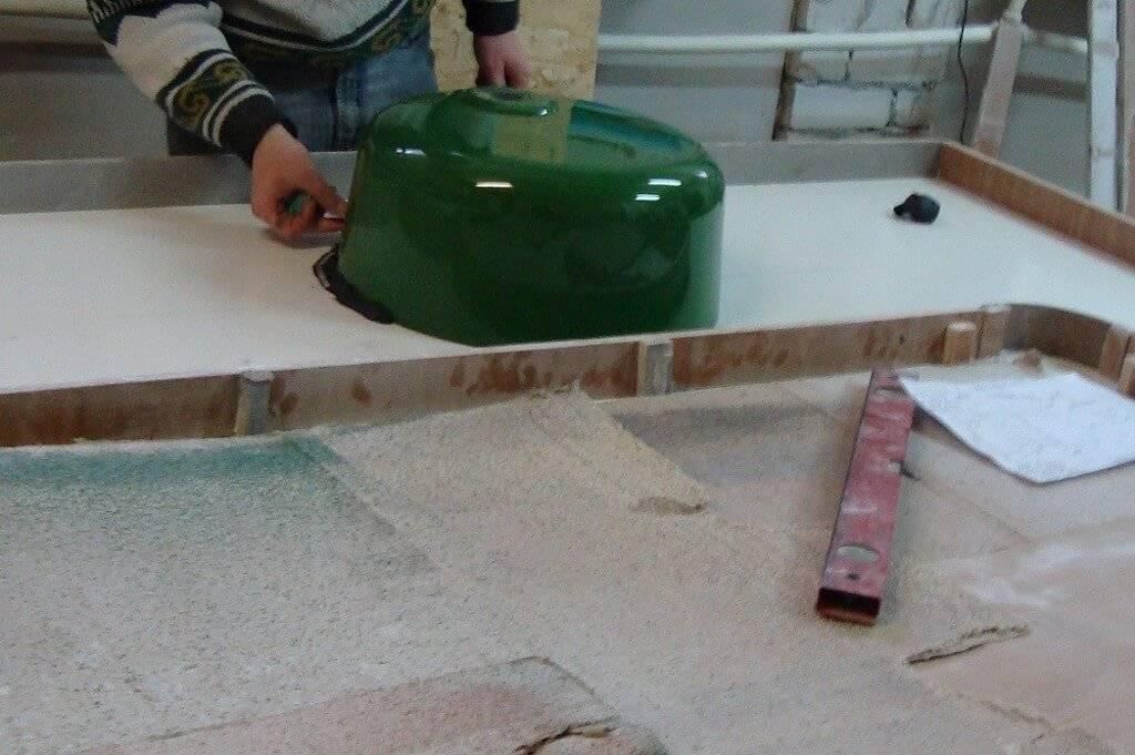 Столешница из жидкого камня своими руками и литьевые искусственные столешницы