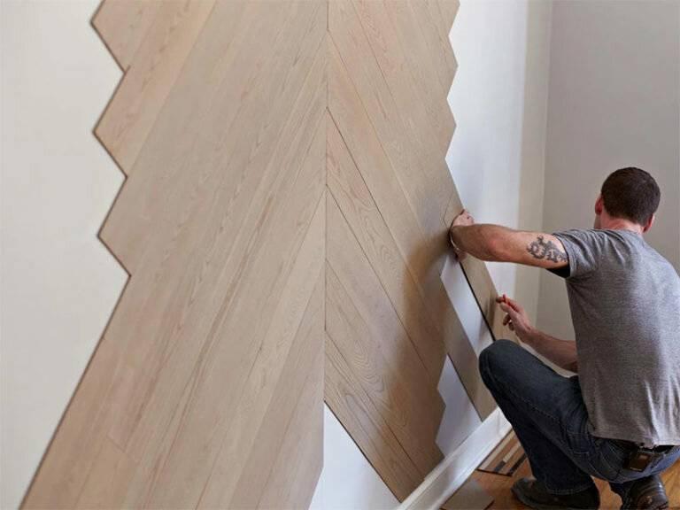 Ламинат на стену: способы крепления и пошаговые инструкции!