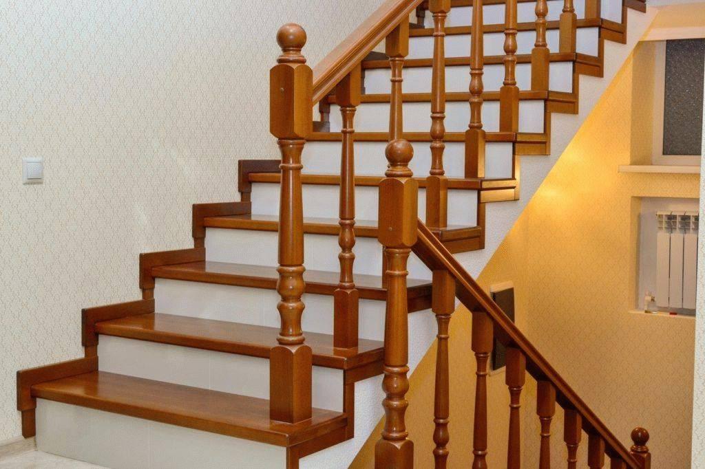 Отделка бетонной лестницы деревом своими руками: технология, порода