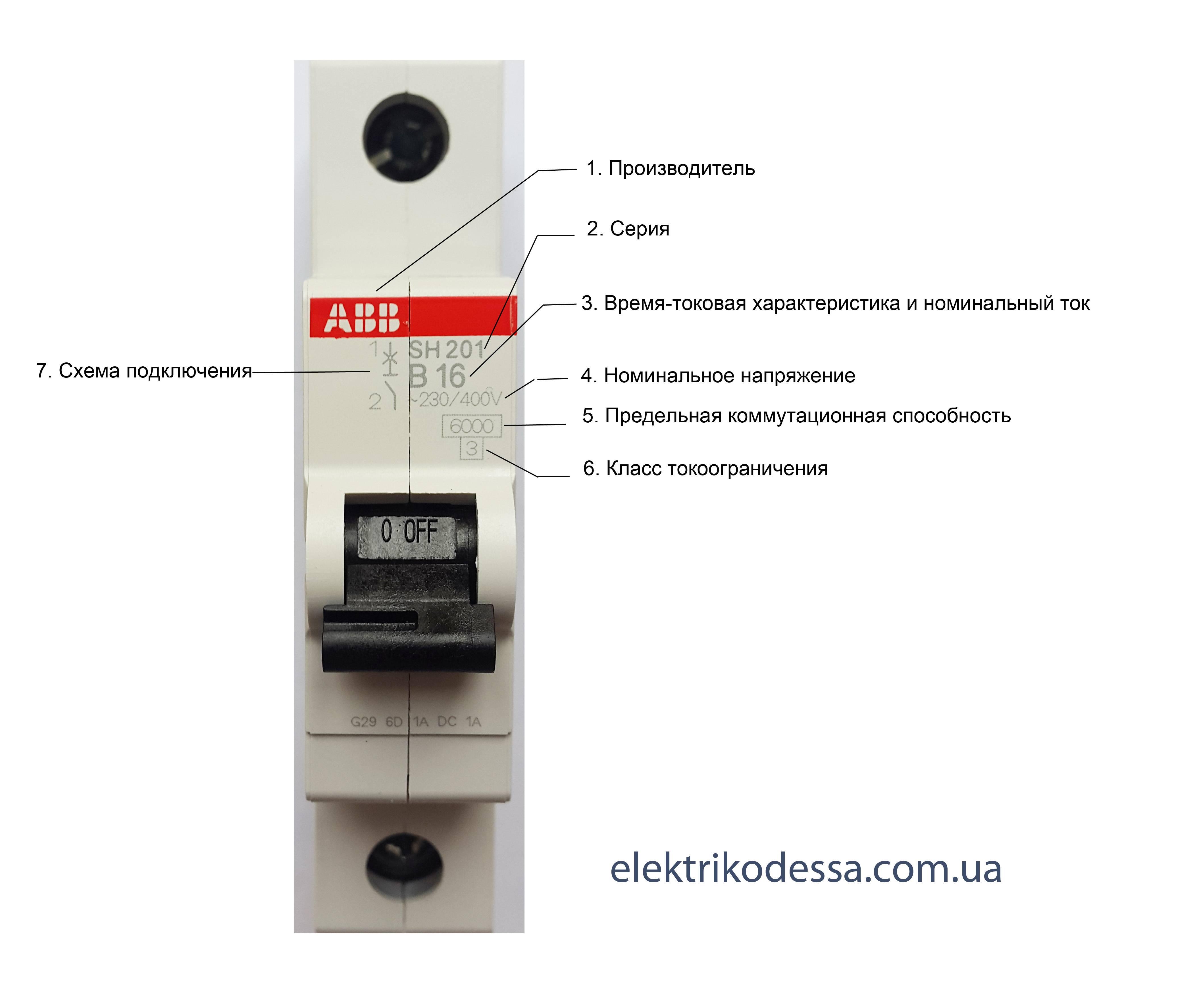 Маркировка автоматических выключателей: класс токоограничения