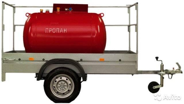 Газгольдер на прицепе (передвижной, мобильный газгольдер)
