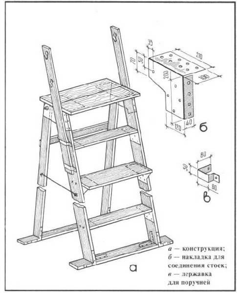 Создание простой приставной лестницы