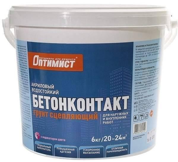 Бетоноконтакт (76 фото): технические характеристики и сфера применения, состав грунтовки и назначение грунта axton