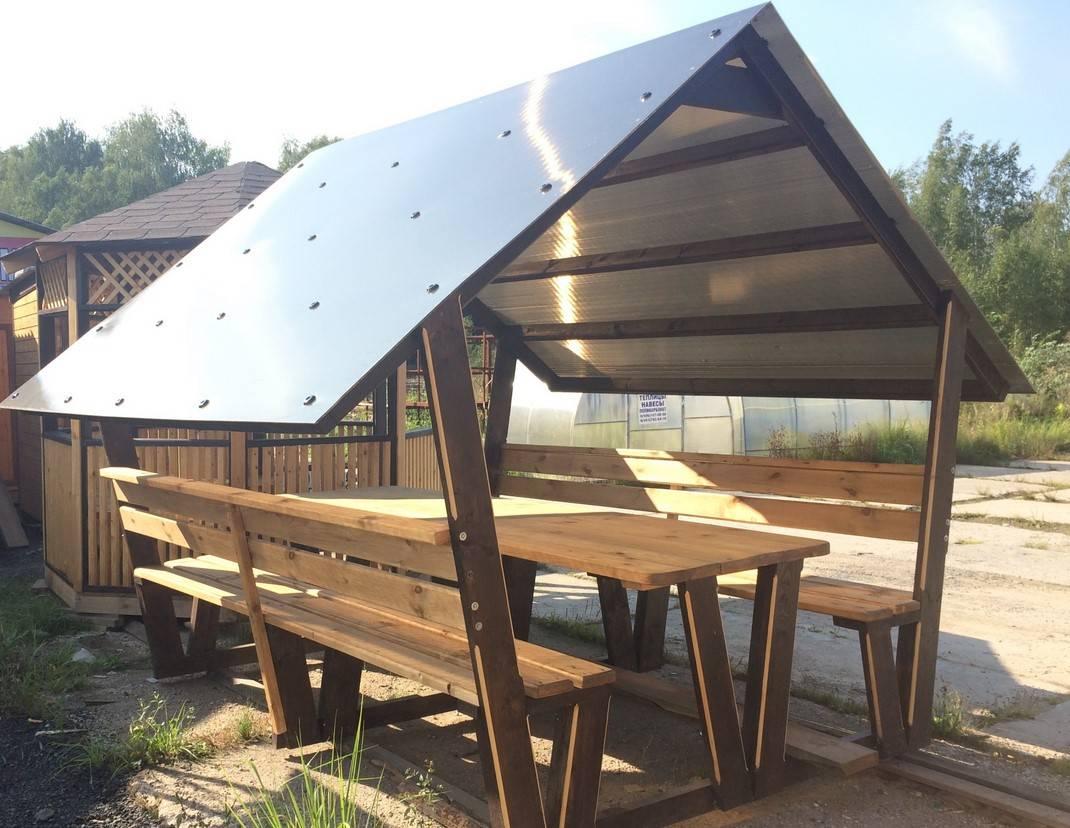 Крыша из поликарбоната для беседки: объясняем по порядку