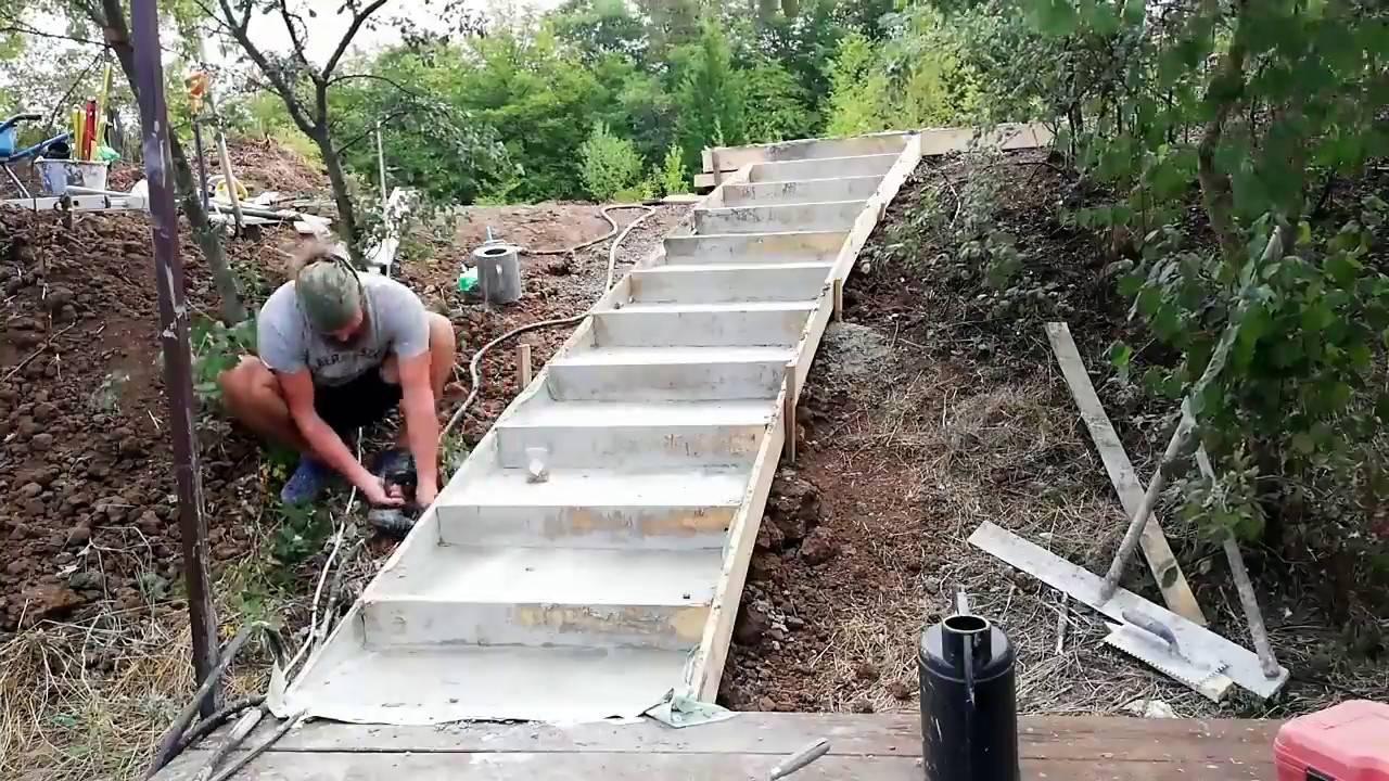 Как сделать красивую садовую лестницу своими руками: ступени в саду