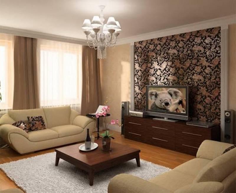 Идеи комбинирования обоев в гостиной: 68 фото, варианты дизайна и поклейки