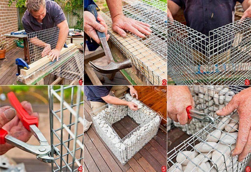 Как сделать забор из габионов своими руками: пошаговая инструкция с фото и видео