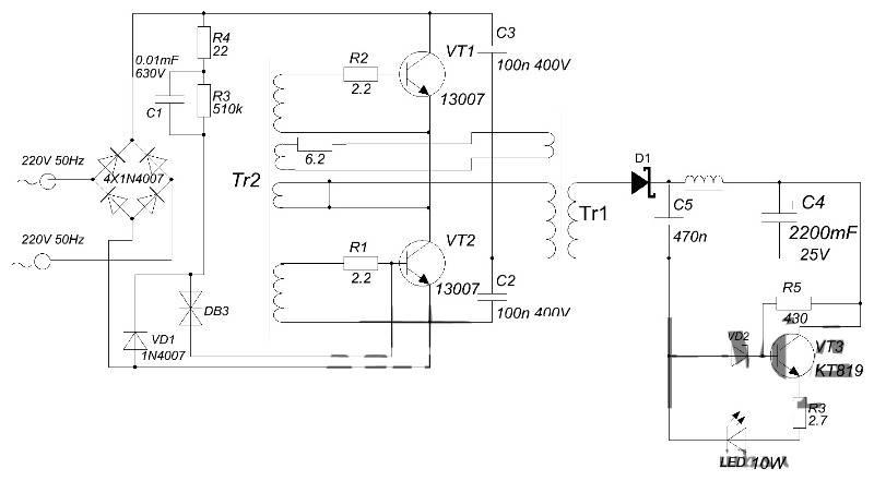 Как сделать блок питания из электронного трансформатора