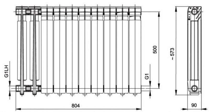 Что такое межосевое расстояние в радиаторах отопления