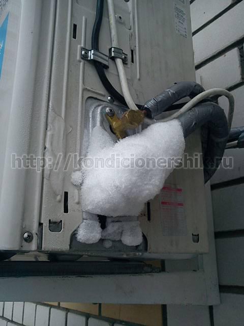 Обмерзает внутренний блок кондиционера? почему и что делать?