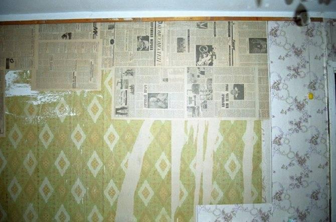 Обои-газета: газетные покрытия вместо отделки и наклеивание