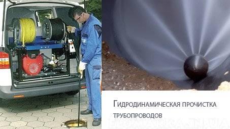 Гидродинамическая промывка системы канализации — прочистка труб от разных видов засоров