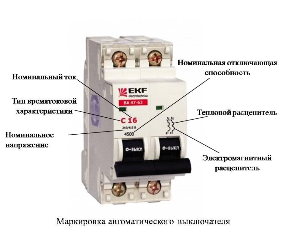 Надписи на автоматических выключателях — что означают, на что смотреть, как выбирать.