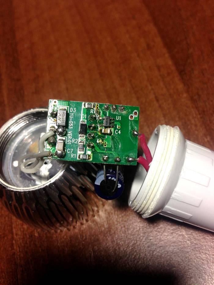 Инструкции по ремонту светодиодных ламп своими руками - точка j