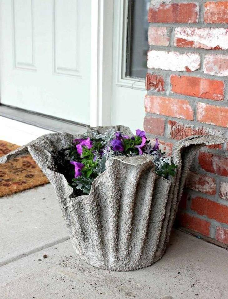 Вазоны для цветов на улицу своими руками: делаем форму и заливаем горшки