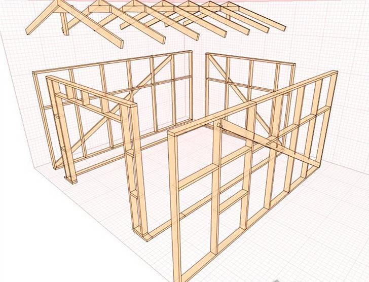 Деревянный гараж своими руками - как сделать +схемы, фото