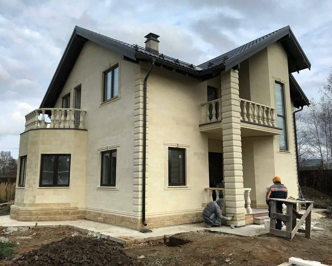 Наружная отделка стен дома из газобетона: простые и сложные варианты