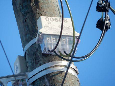 Законна ли установка электросчётчика на столбе
