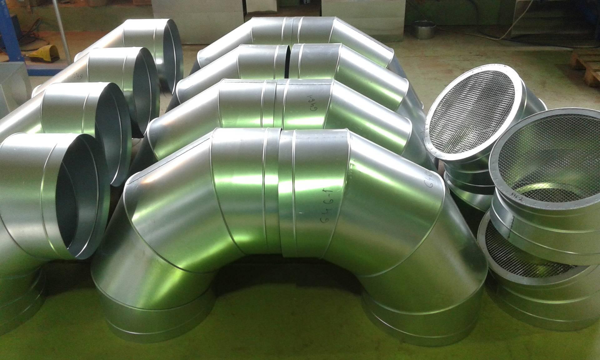 Оцинкованные воздуховоды для вентиляции: изготовление прямоугольных вентиляционных коробов из стали и их вес, каналы из оцинковки