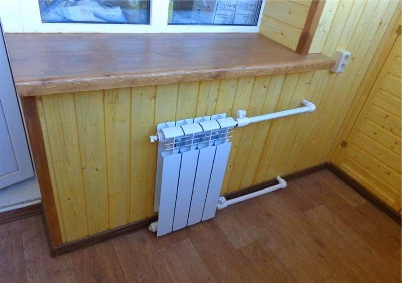 Перенос батареи на лоджию: батарея на балконе разрешение, как сделать вынос батареи на лоджию