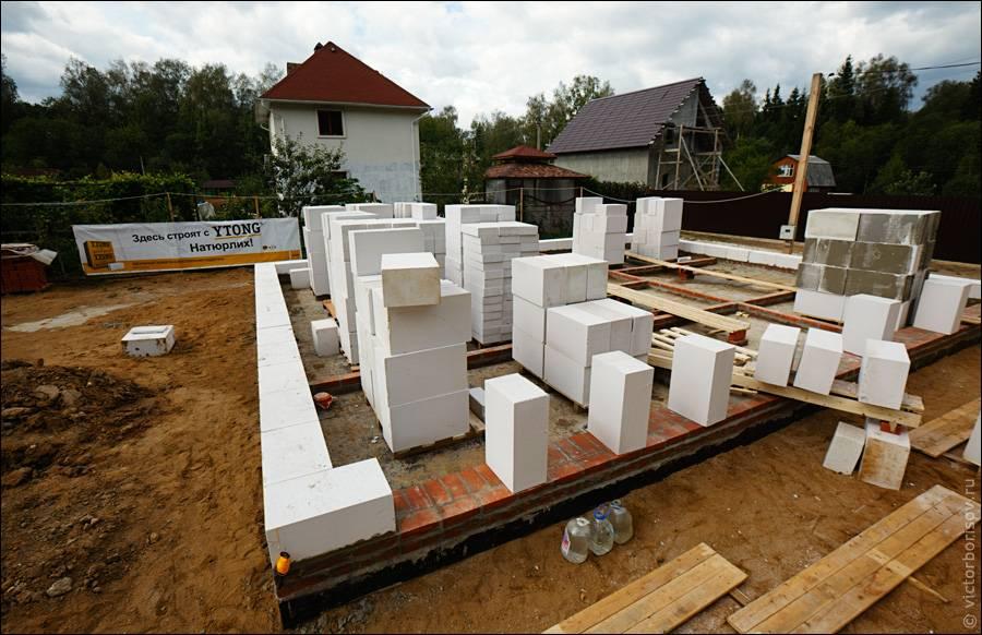 Поэтапное строительство частного дома из газобетона