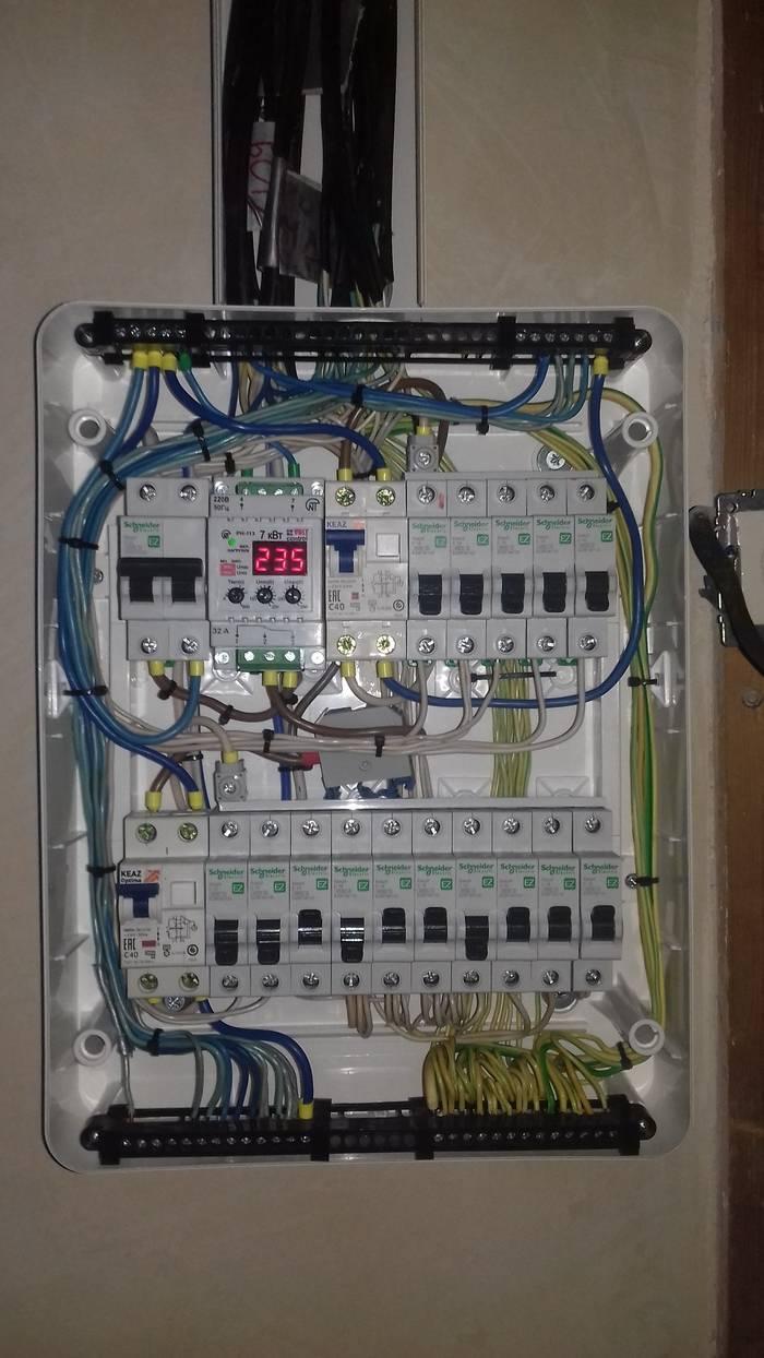 Установка электрощита в однокомнатной квартире от схемы и сборки до монтажа
