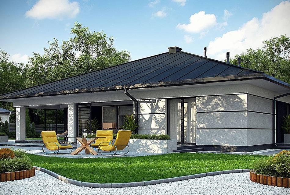 Проекты одноэтажных домов с террасой — каркасные, кирпичные, с гаражом и мансардой
